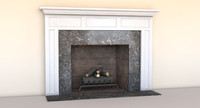 fireplace mantel grate obj