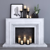 decorative fireplace 3d model
