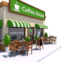 3ds coffee house exterior