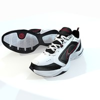 running nike air monarch 3d model