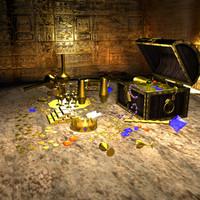 treasure pack 3d model