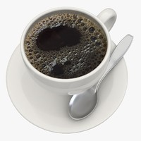 3d model black coffee