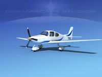 propellers modern aircraft 3d 3ds