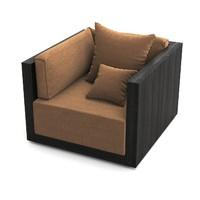 armani casa sydney armchair 3d max