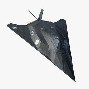 3d model lockheed f-117