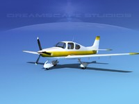 propellers modern aircraft 3d obj