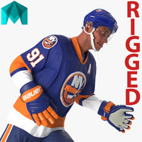 3d ma hockey player islanders rigged
