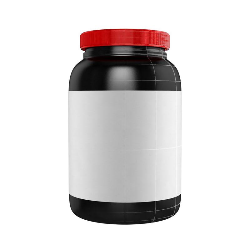 protein supplement bottle obj