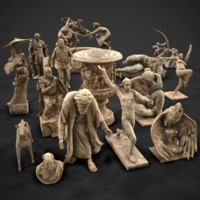 3d 15 statues