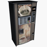 3d coffee tea vending machine model