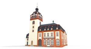 castle church weilburg - 3d max