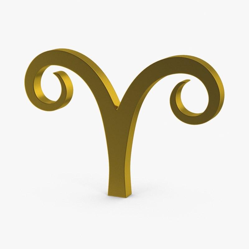astrological signs zodiac aries 3d max