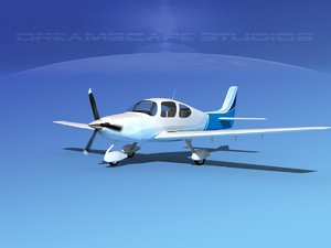 propellers modern aircraft 3d model