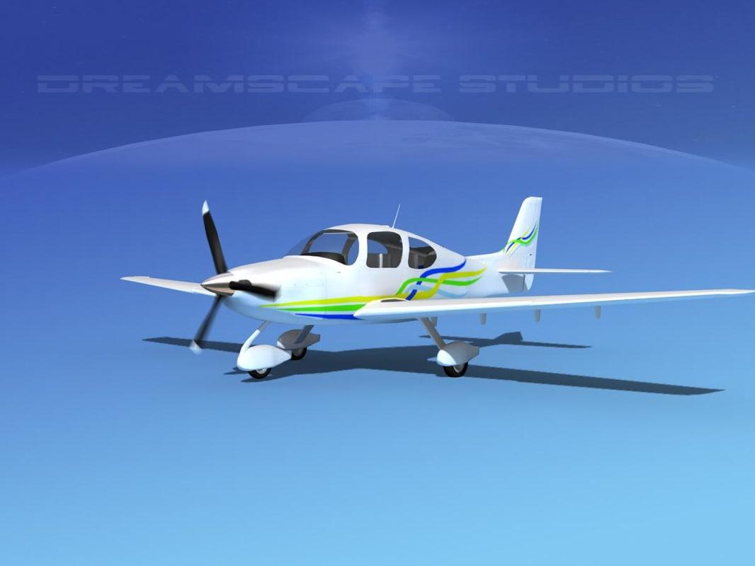 propellers modern aircraft 3d model