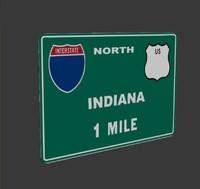 3d max interstate sign