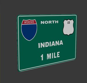 3d max interstate sign