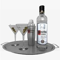 ketel vodka set martini 3d 3ds
