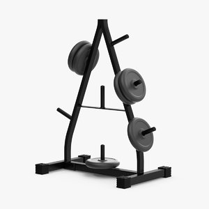 3d weight plate tree
