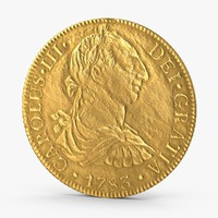 3d max gold doubloon