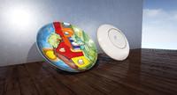 artistic dish 3d 3ds