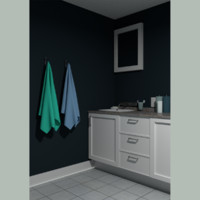 3d model bathroom room