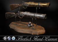 cannon flintlock 3d obj