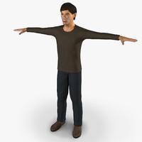 3d model man character - rig