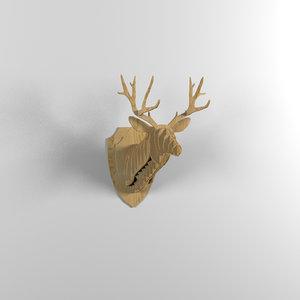 3d model deer head