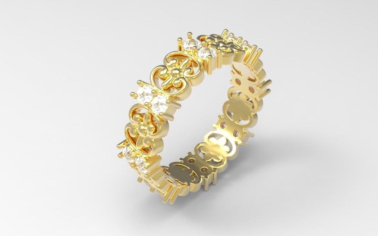 3d model ring jewel