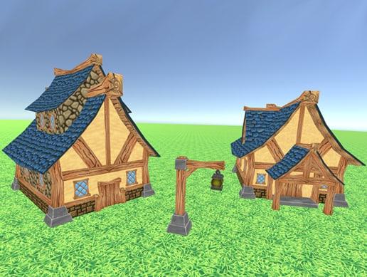 stylized fantasy set 3d model