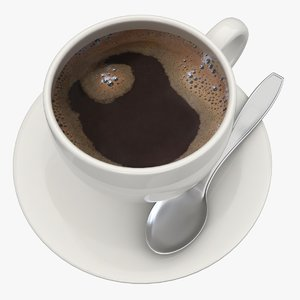 3d model black coffee 2