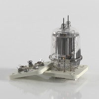 russian vacuum tube gu-29 3d model