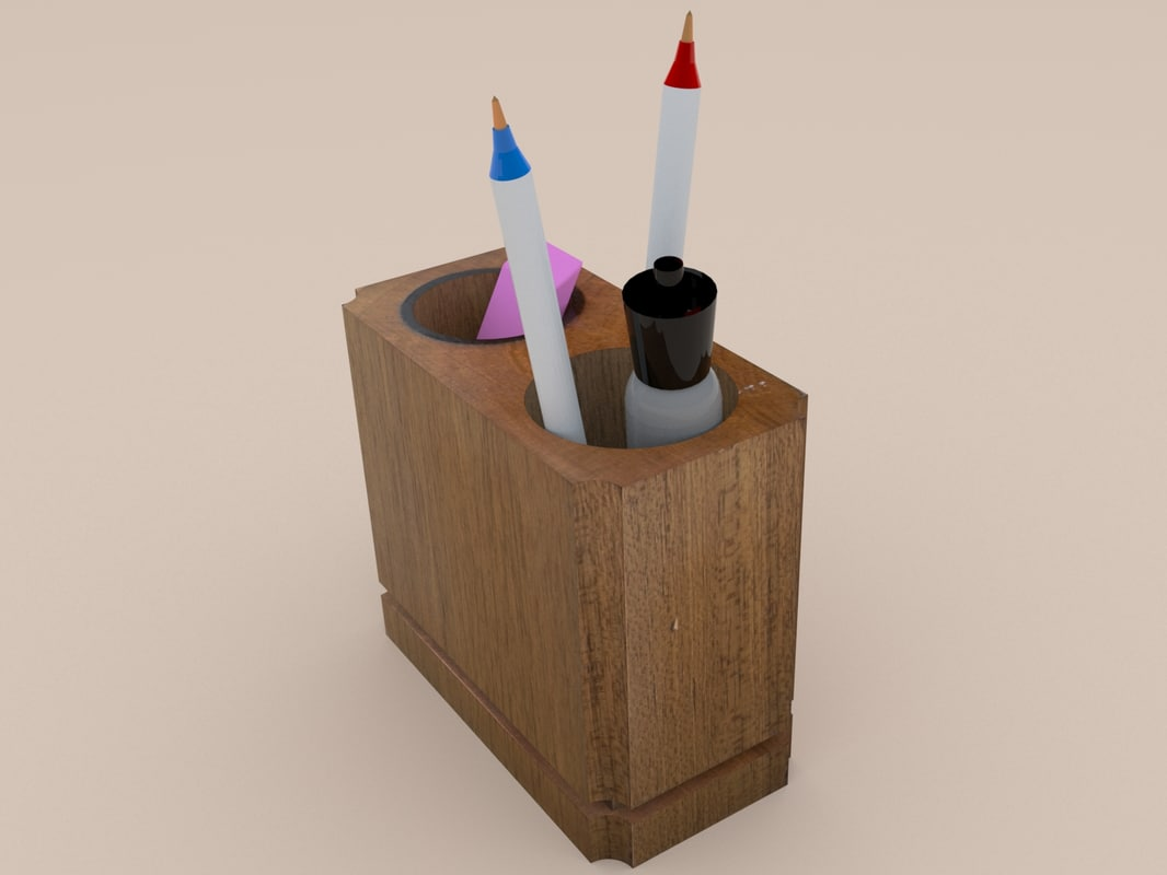 3d model rustic wood