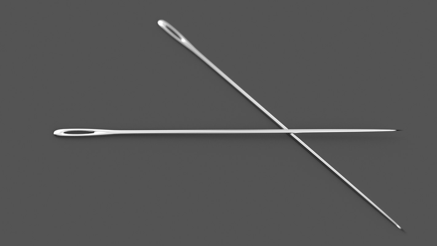 3d model of needle sewing