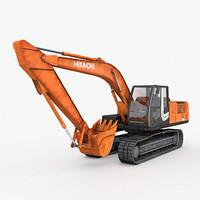utility excavator hitachi industrial 3d 3ds