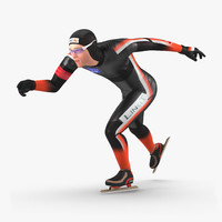 speed skater 2 runs 3d max