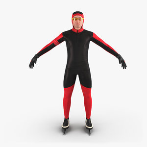 3d speed skater generic