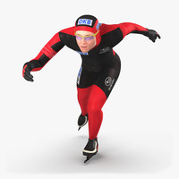 3d speed skater runs
