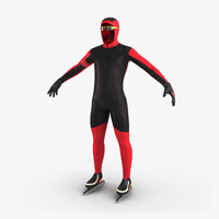 3d model speed skater suit generic