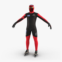 speed skater suit 3d max