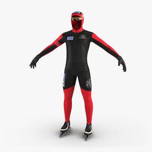speed skater suit 3d max