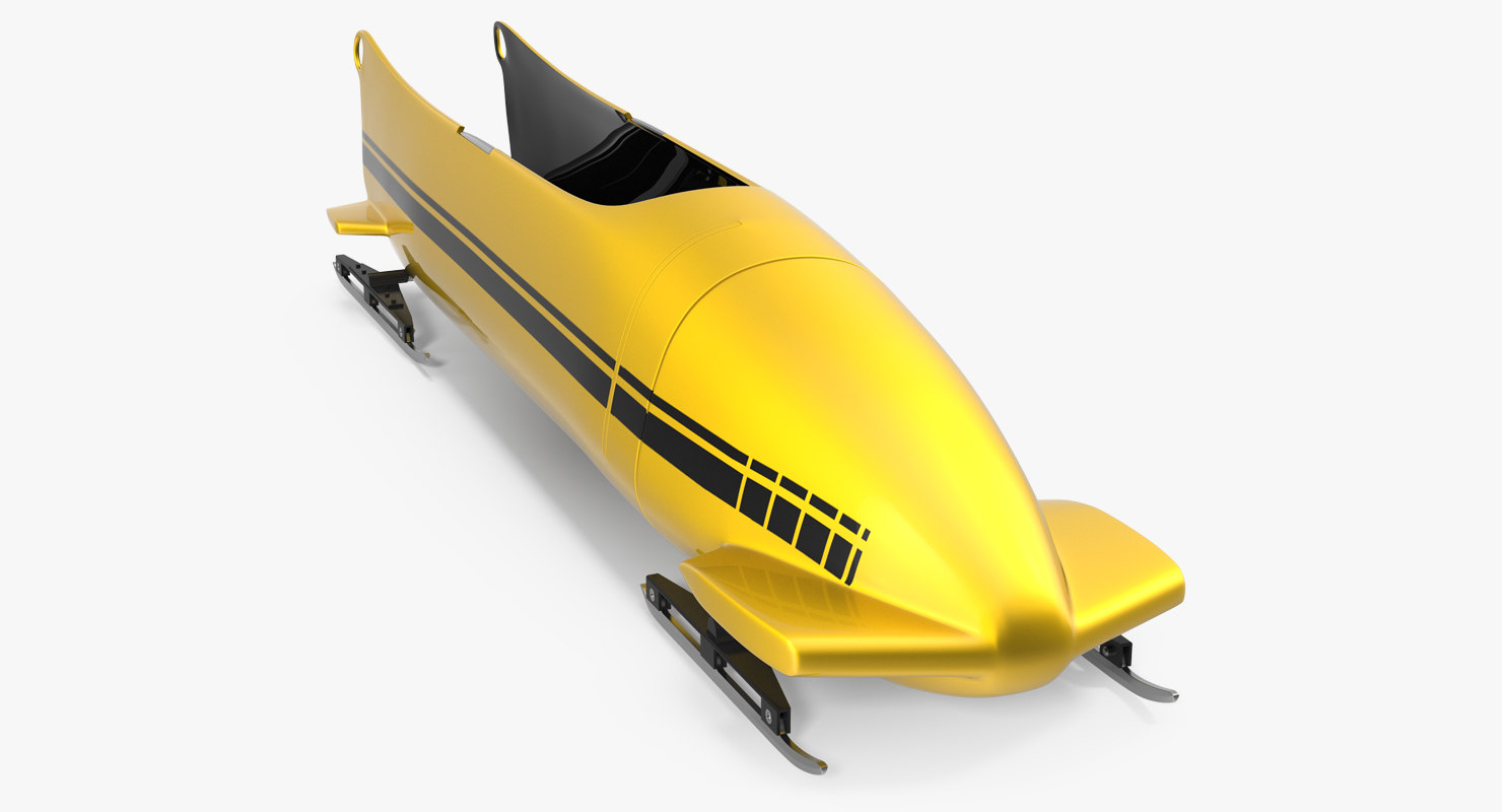 bobsled person generic 3d model