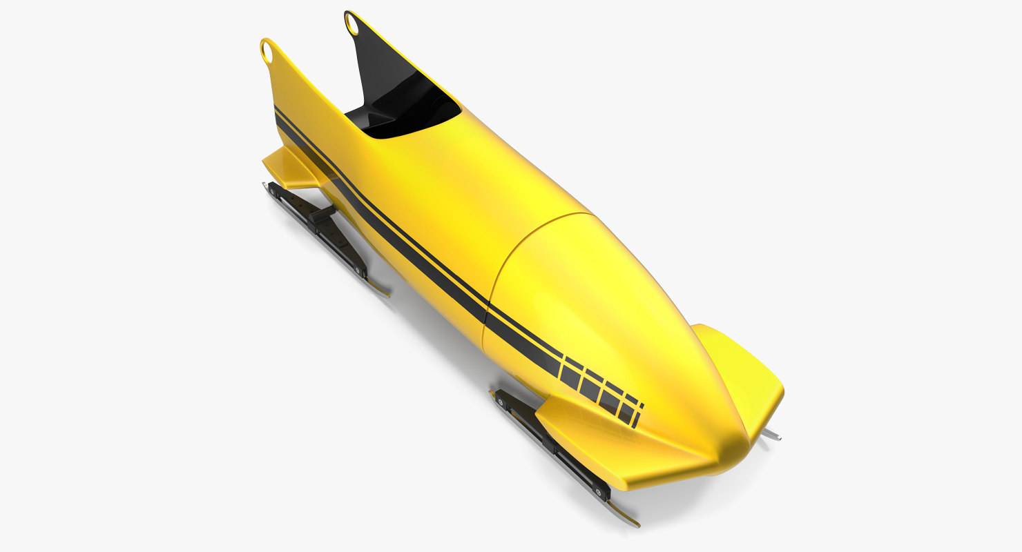 bobsled person generic 3d max