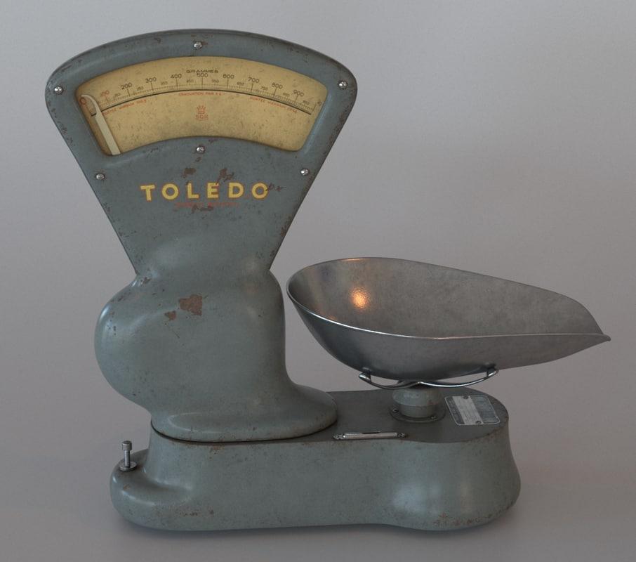 3d model scale vintage