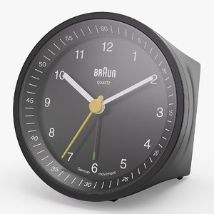 realistic analog alarm clock 3d 3ds