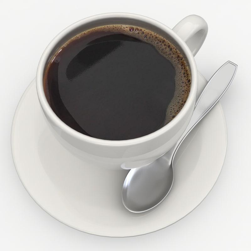 3d model of black coffee 3
