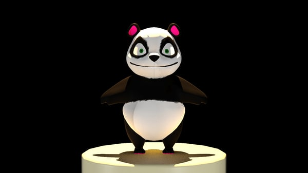 3d model of cuddly panda bear