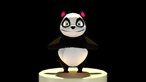 3d model of cuddly panda bear