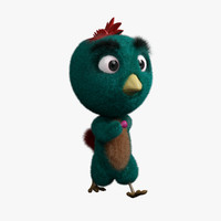 chicken character blendshapes 3d obj
