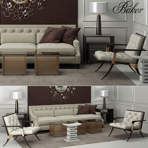sofa tufted 3d max